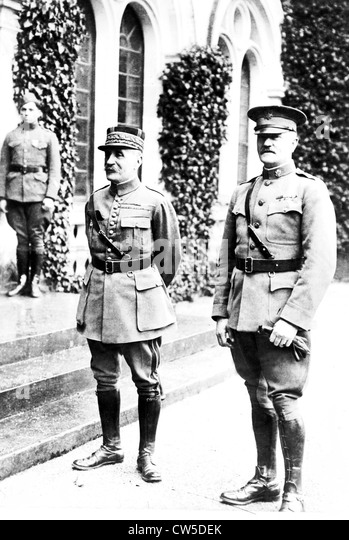 Marshal Foch and General Pershing - Stock Image
