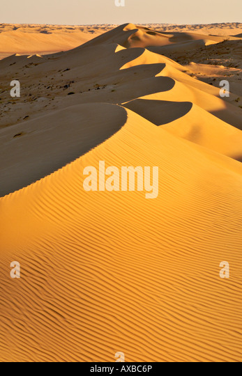 View across Wahiba Sands (Ramlat al Wahaybah) in Oman. - Stock Image