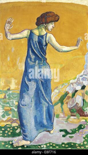 Joyful Woman. Artist: Hodler, Ferdinand (1853-1918) - Stock Image