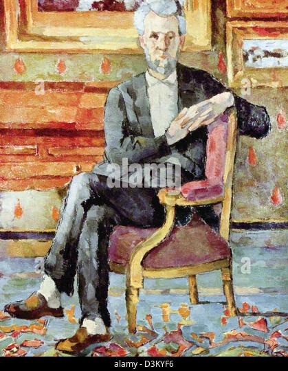 Paul Cezanne, Portrait Of Victor Chocquet Seated 1877 Oil on canvas. Columbus Museum of Art, Columbus, Ohio - Stock-Bilder