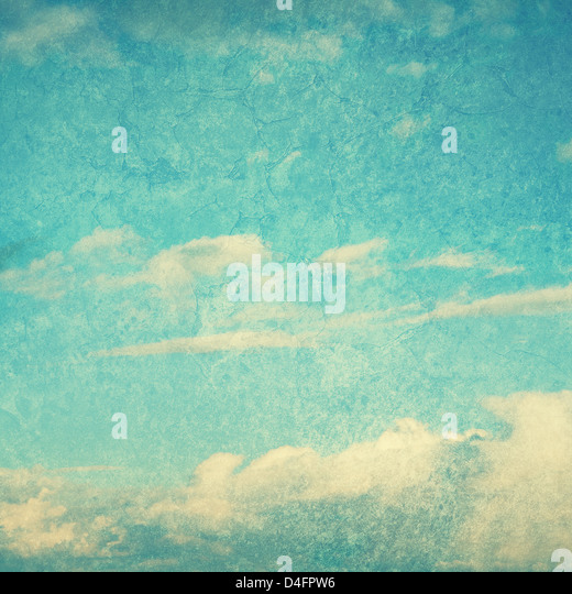 textured blue sky - Stock Image