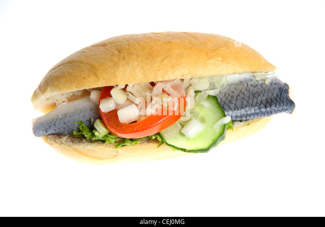 Herring sandwich stock photos herring sandwich stock for Fish sandwich fast food