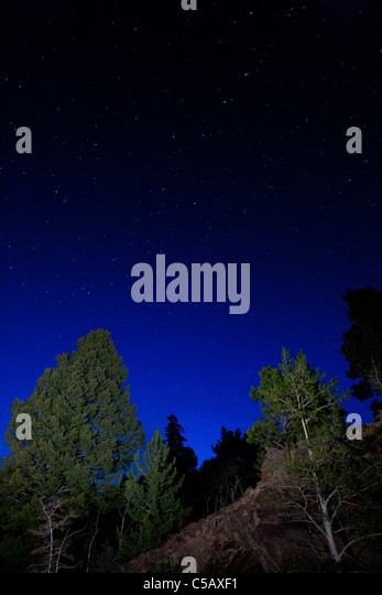 Star filled sky from Marshall Pass, Sawatch Range, Chaffee County, Colorado, USA. - Stock Image