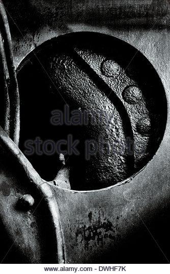 Fragmented detail of a locomotive engine part, England, United Kingdom. - Stock Image