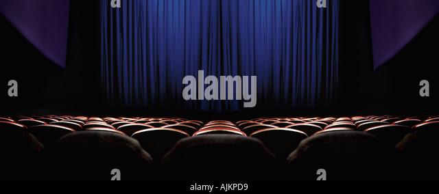 Empty cinema - Stock Image
