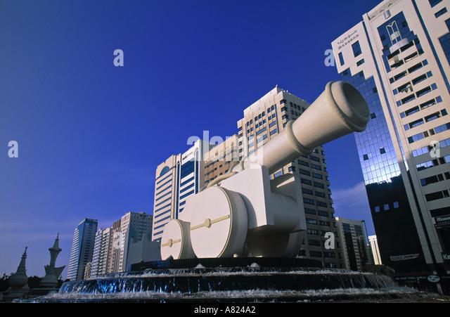 Ittahad Square, Abu Dhabi, United Arab Emirates - Stock Image