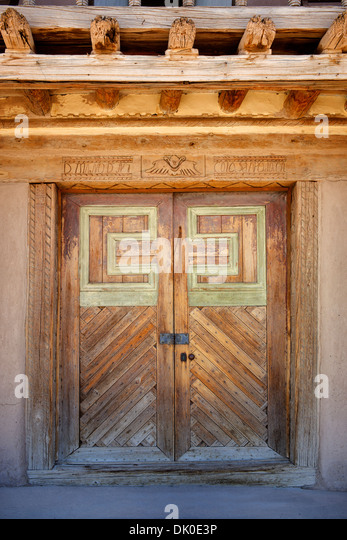 San Jose de Gracia Catholic Church. New Mexico - Stock Image