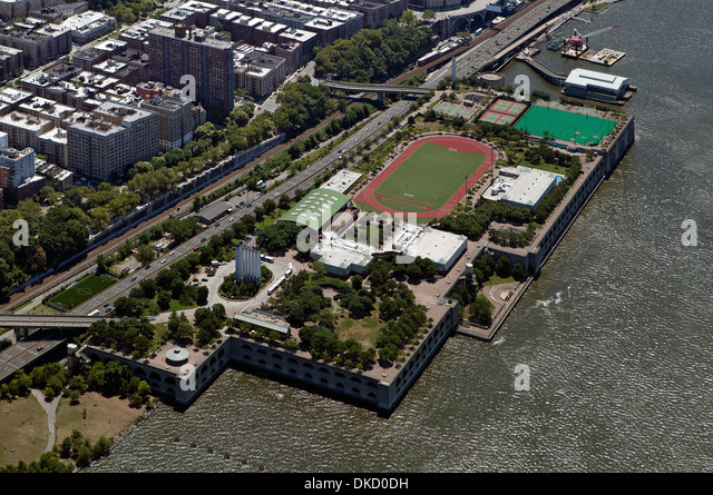 aerial photograph Riverbank State Park, Manhattan, New York City - Stock Image