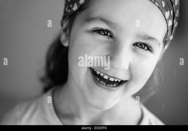 Portrait of smiling girl (4-5) - Stock Image