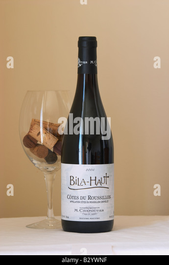 Bila Haut, M Chapoutier. Roussillon, France - Stock Image