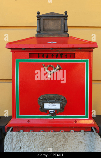 Hungarian mail box, Budapest, Hungary, Europe - Stock Image