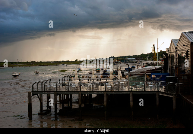 Stormy Sky over Leigh-on-Sea, Essex - Stock Image