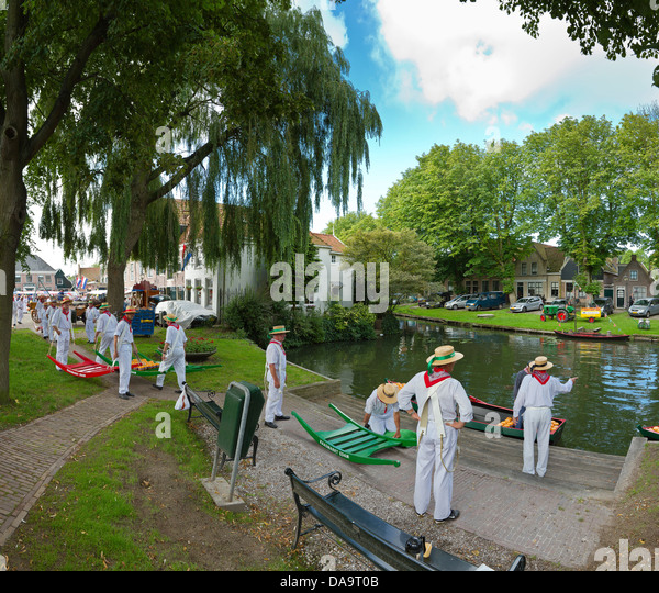 Netherlands, Holland, Europe, Edam, Cheese, market, city, tradition, village, summer, people, - Stock Image