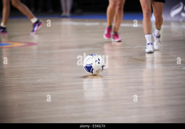SSE Hydro Glasgow Scotland 3 August 2014. Commonwealth Games Glasgow Day 11. Netball final Aus v NZL.  Australia - Stock Image