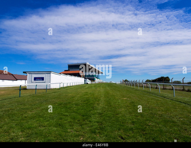 Brighton Racecourse on the South Downs above the city of Brighton and Hove - Stock Image