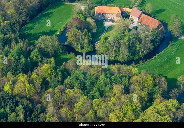 gut füchtel, füchteler wald, vechta district, niedersachsen, germany - Stock Image