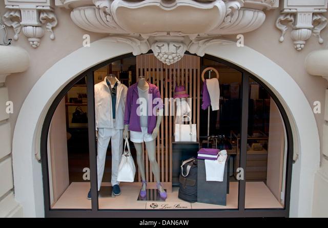 Loro Piana Monaco French Riviera Fashion Italy Italian - Stock Image