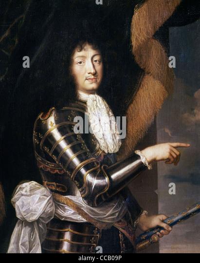 Louis XIV XVII th century Prado museum - Madrid - Stock Image