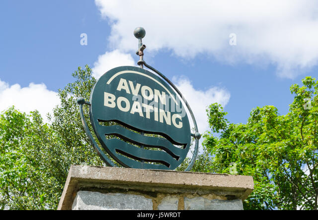Sign for Avon Boating in Stratford-upon-Avon, Warwickshire - Stock Image