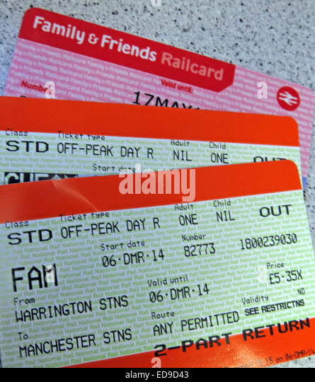 Family & friends UK railcard with tickets - Stock Image