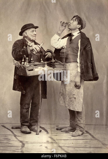 The seller of liquor, Italy - Stock Image