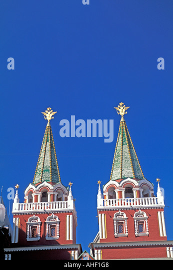 Moscow Russia Ascension Gates Red Square - Stock Image