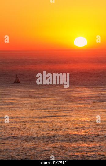 Sunset on San Francisco Bay, San Francisco, CA - Stock Image