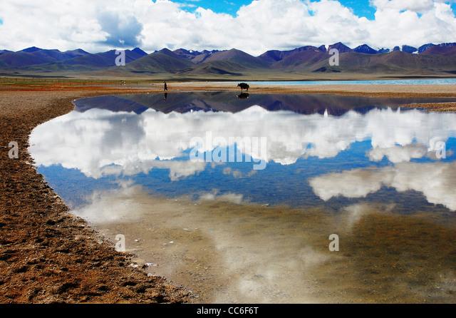 Namtso Lake, Lhasa, Tibet, China - Stock Image