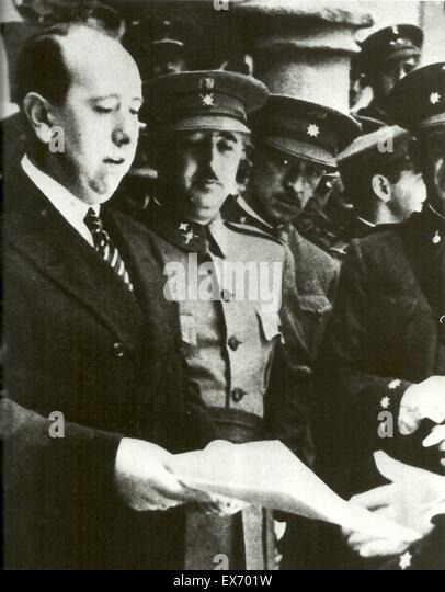 General Franco and José María Gil-Robles y a prominent Spanish politician in the period leading up to - Stock Image