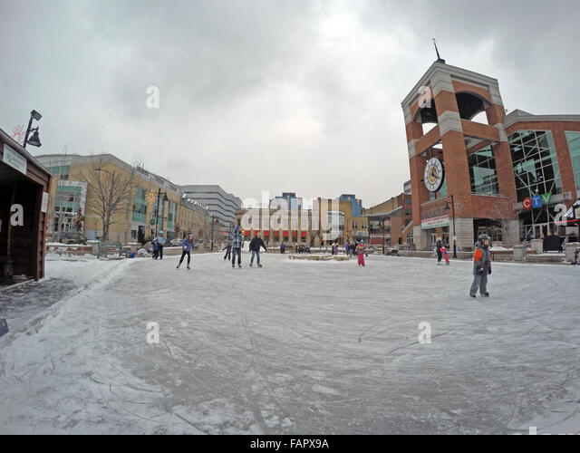Covent Garden Market London Ontario Winter - Stock Image