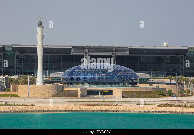 Doha, New Doha, Qatar, Middle East, airport, architecture, city, building, international, minaret, travel - Stock Image