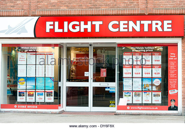 Flight Centre travel agents in Oxford City centre, Oxfordshire, UK. - Stock-Bilder