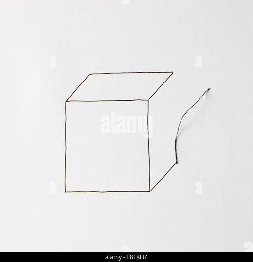 Illustration Of A Box - Stock Image