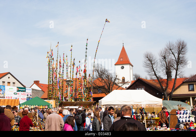 Easter Palm Contest in Lipnica Murowana - Stock Image
