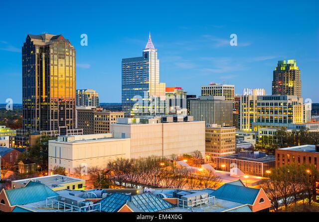 Raleigh, North Carolina, USA downtown skyline. - Stock-Bilder