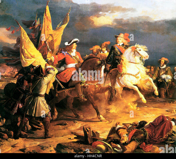 Battle of Villaviciosa during The War of the Spanish Succession (1701–1714) was a major European conflict of the - Stock Image