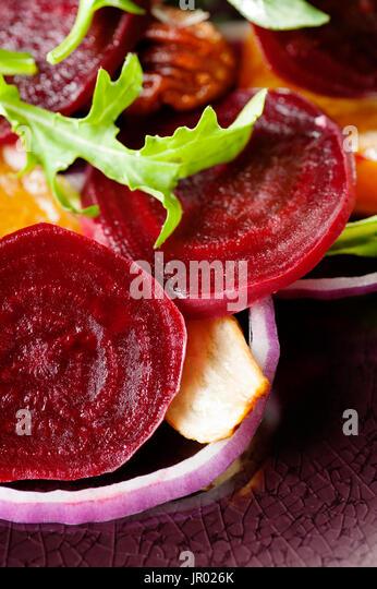 beet and arugula salad - Stock Image