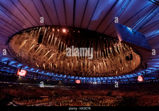 Rio de Janeiro, Brazil. 5 August 2016  Olympic Summer Games Opening Ceremonies. ©Paul J. Sutton/PCN Photography. - Stock-Bilder