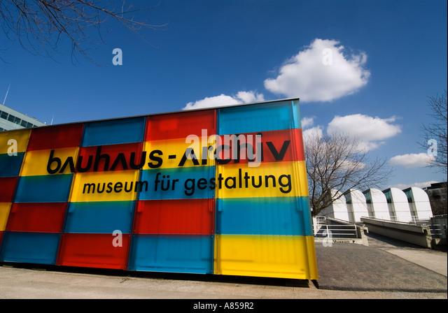 Entrance to Bauhaus Archive Museum in Berlin Germany - Stock-Bilder