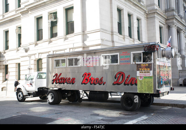haven brothers diner food truck Providence Rhode Island - Stock Image