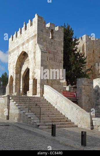 The Tower of David Museum of the History of Jerusalem. - Stock Image