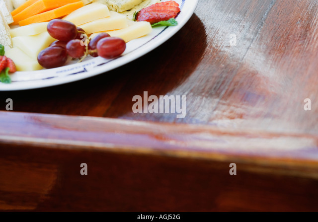 Close-up of assorted food on a plate - Stock-Bilder