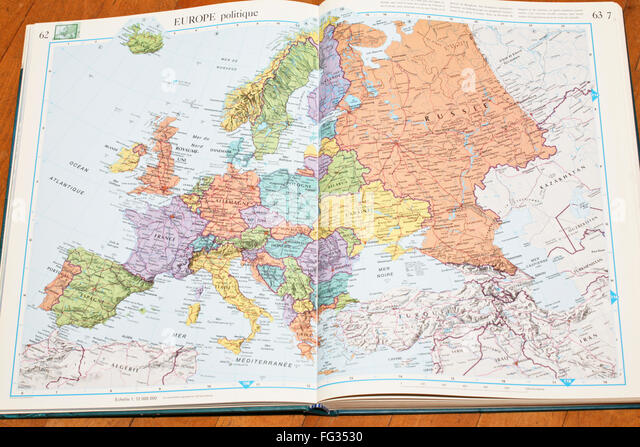 french map of europe stock photos french map of europe stock images alamy. Black Bedroom Furniture Sets. Home Design Ideas