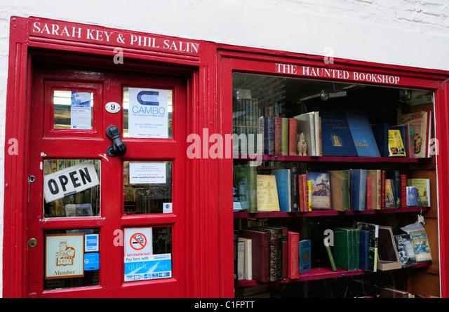The Haunted Bookshop, St Edward's Passage, Cambridge, England, UK - Stock Image