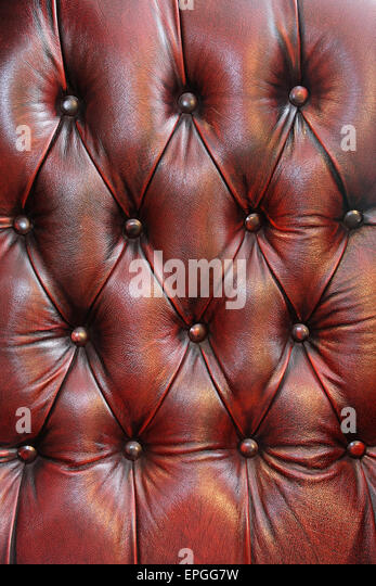 Leather upholster - Stock Image