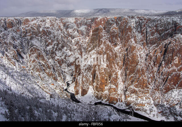 Winter views in Black Canyon of the Gunnison - Stock Image