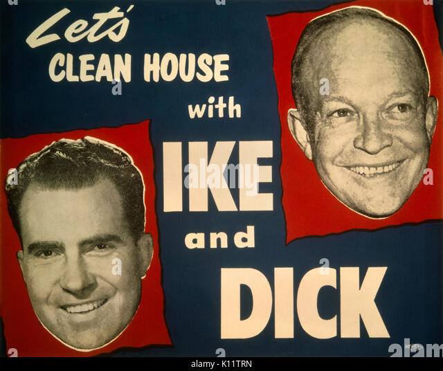 Presidential campaign of President Dwight D. Eisenhower and Vice President Richard M. Nixon - 'Let's clean - Stock Image