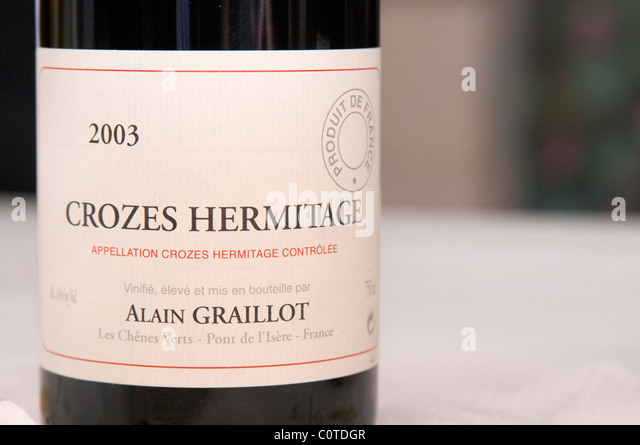 crozes hermitage 2003 domaine alain graillot rhone france - Stock Image