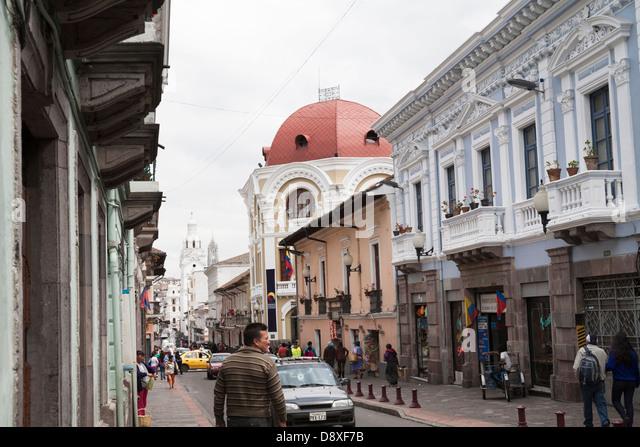 Quito, Old City, Ecuador - Stock Image