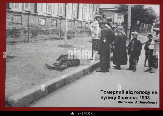 Exhibition of declassified archive documents on Golodomor opens in Kiev - Stock-Bilder